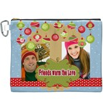 christmas - Canvas Cosmetic Bag (XXXL)