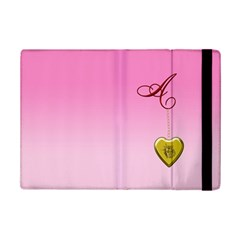 A Golden Rose Heart Locket Apple Ipad Mini 2 Flip Case