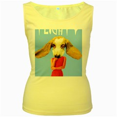 Flighty Women s Tank Top (yellow) by AnimalsLol