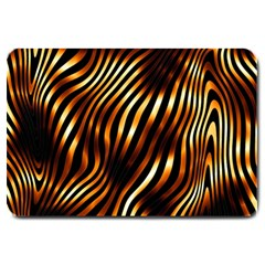 Fiery Tiger Stripes Large Door Mat by PrincessTrixiel