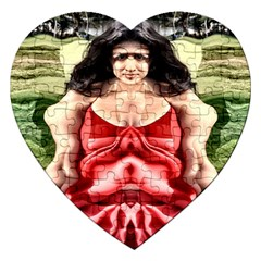 Cubist Woman Jigsaw Puzzle (heart) by icarusismartdesigns