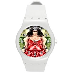 Cubist Woman Plastic Sport Watch (medium) by icarusismartdesigns