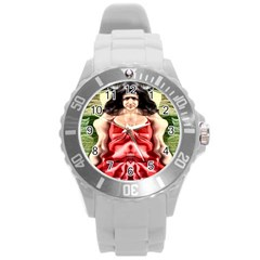 Cubist Woman Plastic Sport Watch (large) by icarusismartdesigns