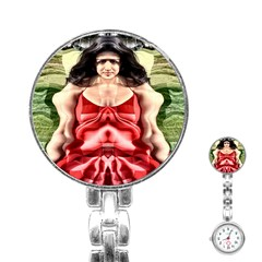 Cubist Woman Stainless Steel Nurses Watch by icarusismartdesigns