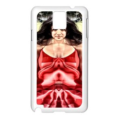 Cubist Woman Samsung Galaxy Note 3 N9005 Case (white) by icarusismartdesigns