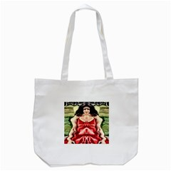 Cubist Woman Tote Bag (white)