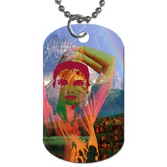 Fusion With The Landscape Dog Tag (one Sided) by icarusismartdesigns