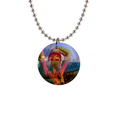 Fusion With The Landscape Button Necklace by icarusismartdesigns