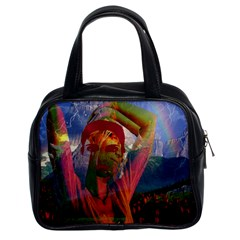 Fusion With The Landscape Classic Handbag (two Sides) by icarusismartdesigns