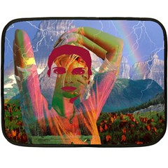 Fusion With The Landscape Mini Fleece Blanket (two Sided) by icarusismartdesigns