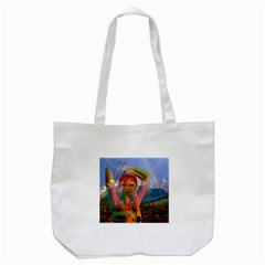 Fusion With The Landscape Tote Bag (white) by icarusismartdesigns