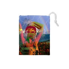 Fusion With The Landscape Drawstring Pouch (small)