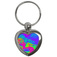 Seaside Holiday Key Chain (heart) by icarusismartdesigns