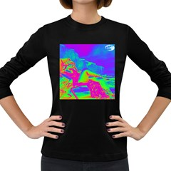 Seaside Holiday Women s Long Sleeve T Shirt (dark Colored) by icarusismartdesigns