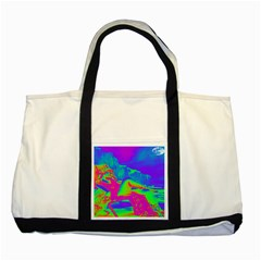 Seaside Holiday Two Toned Tote Bag by icarusismartdesigns