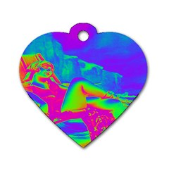 Seaside Holiday Dog Tag Heart (one Sided)  by icarusismartdesigns