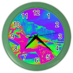 Seaside Holiday Wall Clock (color) by icarusismartdesigns