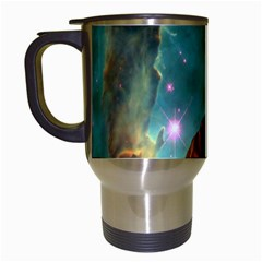 Lost In The Starmaker Travel Mug (white) by icarusismartdesigns