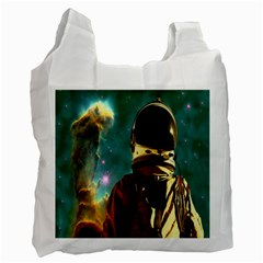 Lost In The Starmaker White Reusable Bag (one Side) by icarusismartdesigns