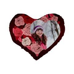 Love By Ki Ki   Standard 16  Premium Flano Heart Shape Cushion    M6k23z18xqxj   Www Artscow Com Back