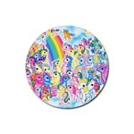 my little pony2 Rubber Round Coaster (4 pack)