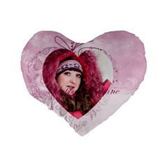 Love By Ki Ki   Standard 16  Premium Flano Heart Shape Cushion    Tmgbvetk87uc   Www Artscow Com Back