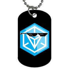 Ingress Guardian Hunter Tags By Corey Peoples   Dog Tag (two Sides)   U2ygk9oo6fsq   Www Artscow Com Back