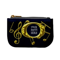 Golden Music Mini Coin Purse By Chere s Creations   Mini Coin Purse   I5b7v1a7x0sd   Www Artscow Com Front