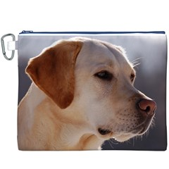 3 Labrador Retriever Canvas Cosmetic Bag (XXXL) by TailWags