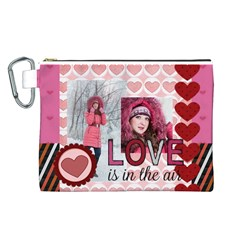 Love By Ki Ki   Canvas Cosmetic Bag (large)   Teftyzecnmck   Www Artscow Com Front