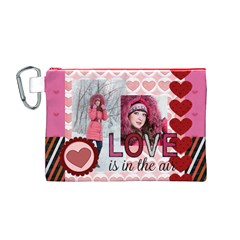 Love By Ki Ki   Canvas Cosmetic Bag (medium)   Gzgtnhv08q8g   Www Artscow Com Front