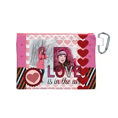Love By Ki Ki   Canvas Cosmetic Bag (medium)   Gzgtnhv08q8g   Www Artscow Com Back