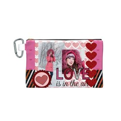 Love By Ki Ki   Canvas Cosmetic Bag (small)   Ukubxk1puvt8   Www Artscow Com Front