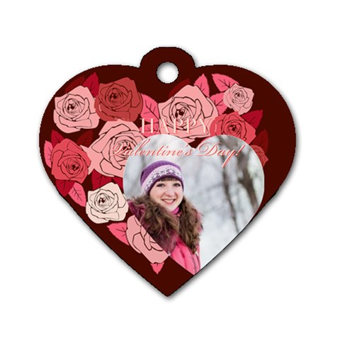 Love By Ki Ki   Dog Tag Heart (one Side)   5bqpn1p1u9ld   Www Artscow Com Front