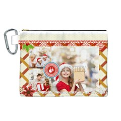 Xmas By Xmas   Canvas Cosmetic Bag (large)   58lcuhuklr8l   Www Artscow Com Front