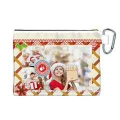 Xmas By Xmas   Canvas Cosmetic Bag (large)   58lcuhuklr8l   Www Artscow Com Back