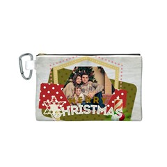 Xmas By Xmas   Canvas Cosmetic Bag (small)   7e7cabwjli4u   Www Artscow Com Front