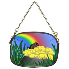 Pot Of Gold With Gerbil Chain Purse (one Side) by designedwithtlc
