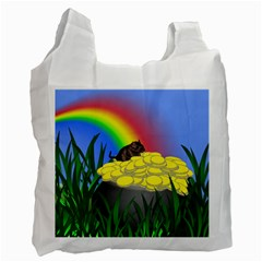 Pot Of Gold With Gerbil White Reusable Bag (one Side) by designedwithtlc