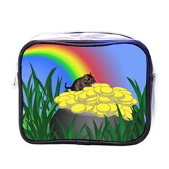Pot Of Gold With Gerbil Mini Travel Toiletry Bag (one Side) by designedwithtlc