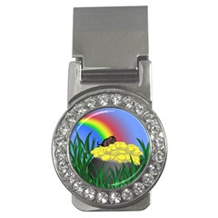 Pot Of Gold With Gerbil Money Clip (cz) by designedwithtlc