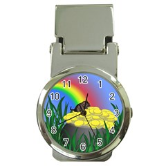 Pot Of Gold With Gerbil Money Clip With Watch by designedwithtlc
