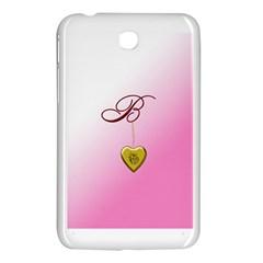 B Golden Rose Heart Locket Samsung Galaxy Tab 3 (7 ) P3200 Hardshell Case  by cherestreasures