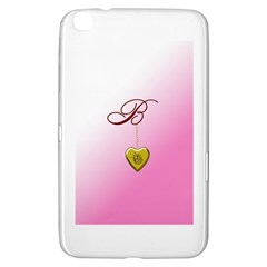 B Golden Rose Heart Locket Samsung Galaxy Tab 3 (8 ) T3100 Hardshell Case  by cherestreasures