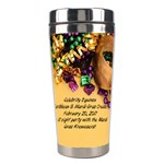 mardi gras 1 - Stainless Steel Travel Tumbler