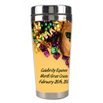 mardi gras 4 - Stainless Steel Travel Tumbler