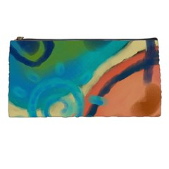 Colorful Abstract Art Clutch Purse Cosmetics Bag Pencil Case by paintedpurses