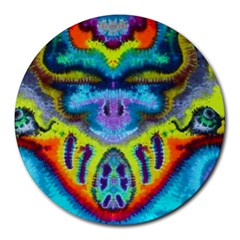 16X12_surfin_eyeballs Round Mousepad by BenjamminArts