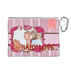 Baby By Baby   Canvas Cosmetic Bag (large)   Ufohojn9cm7c   Www Artscow Com Back