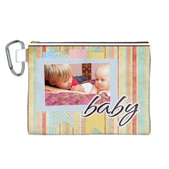 Baby By Baby   Canvas Cosmetic Bag (large)   Oeo19d5ngrz0   Www Artscow Com Front